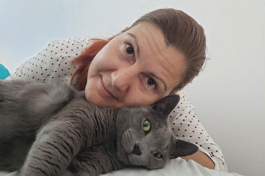 Tanja Stupar - Trifunović i siva mačka