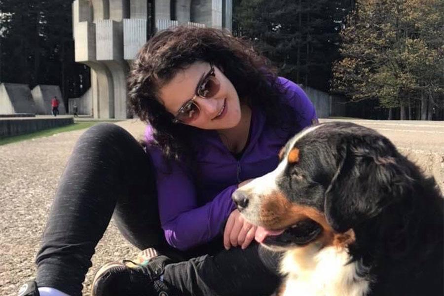 Ljubica Ivetić i pas Barni